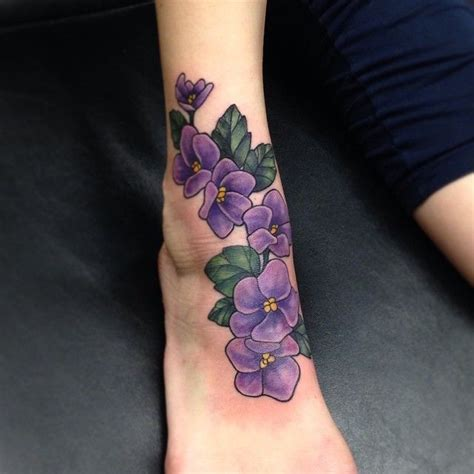 february birth flower tattoo best 25 violet flower tattoos ideas on violet