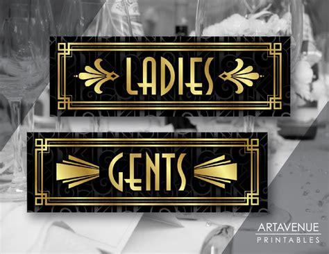 ladies and gents bathroom signs printable art ladies and gents signs