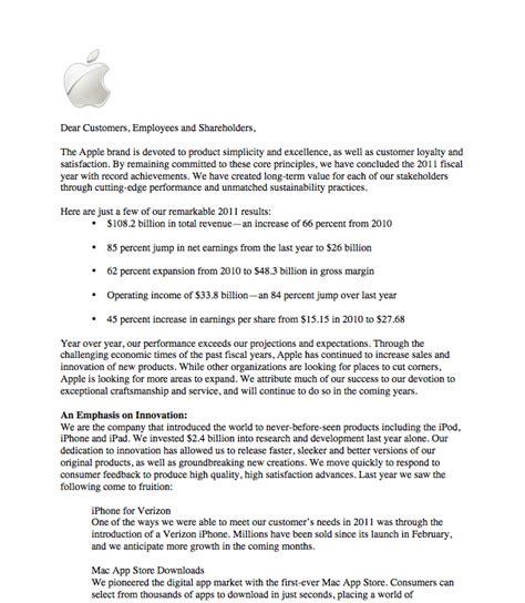 business letter to apple company apple shareholder letter osborn s portfolio