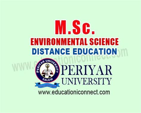 Mba In Environmental Science In India by Msc Environmental Science Education I Connect