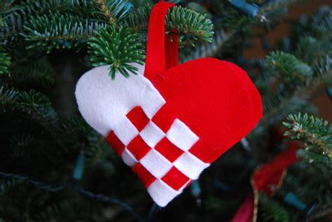 danish christmas ornaments invitation template