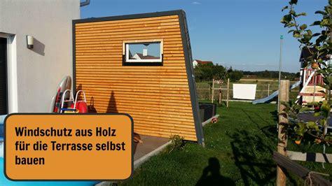Windschutz Für Eingangstüren by Terrasse Selber Bauen Holz Winterharte Balkonpflanzen