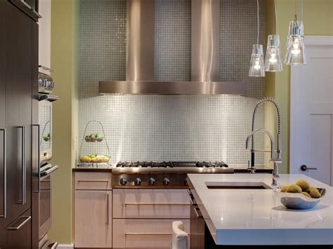 glass backsplash ideas for kitchens modern kitchen backsplashes pictures ideas from hgtv hgtv
