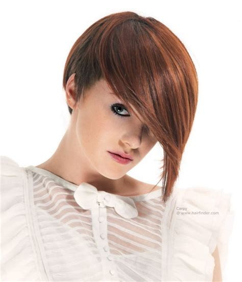 hair style short in back long in front hairstyles long in front short in back