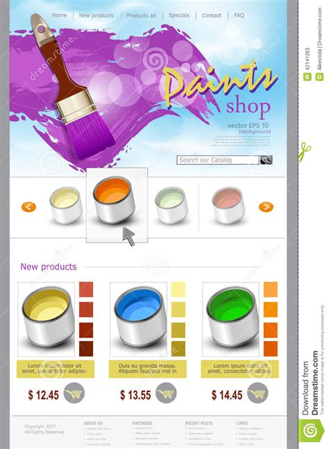Resident Card Template Paint Shop Pro by Vector Website Template Paint Shop Stock Vector Image