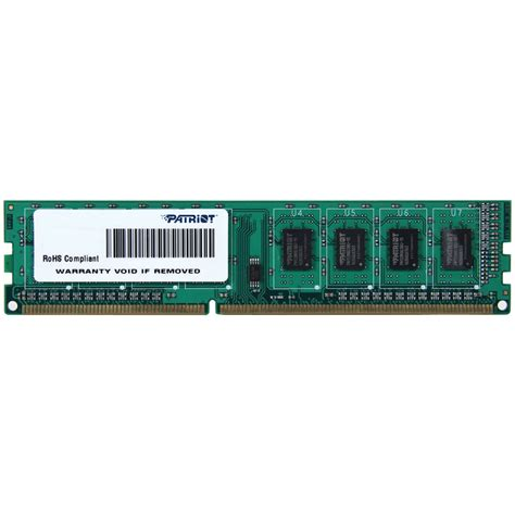 Ram Ddr3 Merk Patriot patriot signature line 4gb ddr3 240 pin 1600 mhz psd34g160081