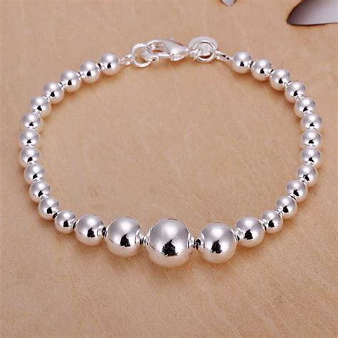 cheap bead bracelets free shipping 925 sterling silver jewelry bracelet