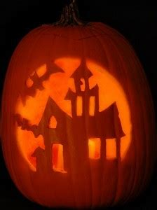 haunted house pattern for pumpkin carving haunted house pattern free scary halloween pumpkin