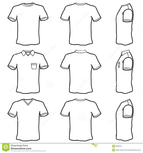 Tshirt Kaos Polos O Neck Unisex All Color Color T Shirt Template Set Royalty Free Stock Photography