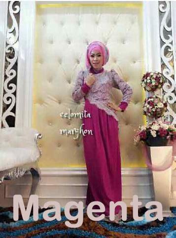 Gamis Pesta Ivan Gunawan New Celomita Magenta Baju Muslim Gamis Modern