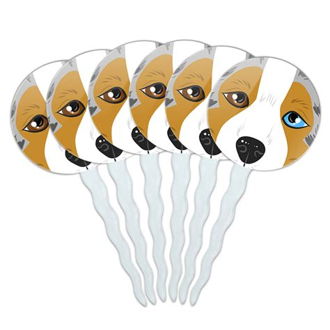 set of puppy set of 6 cupcake picks toppers decoration puppy ebay