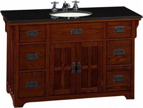 craftsman style vanity cabinet craftsman style