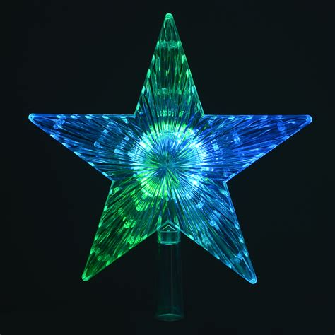 battery operated christmas tree topper star colour