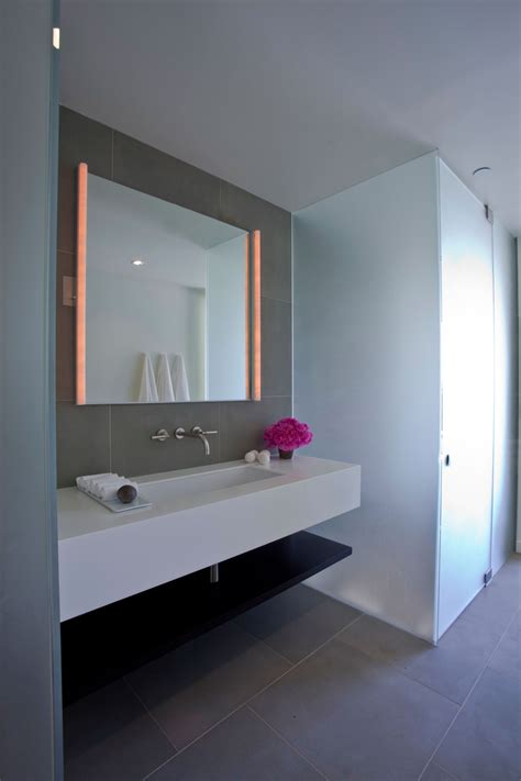 bathroom mirrors contemporary bathroom mirror lighting elegant modern interior in