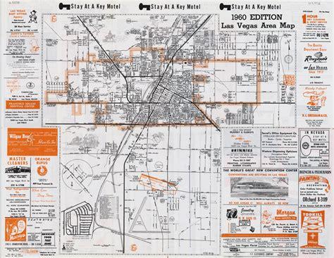 las vegas on usa map large detailed vintage las vegas city area map 1960