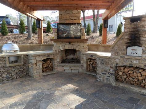 fireplace tv patio backyard designs gallery  outdoor