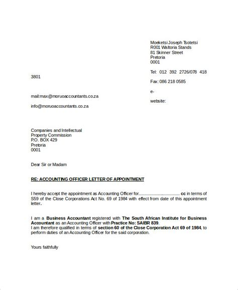 appointment letter template examples  premium