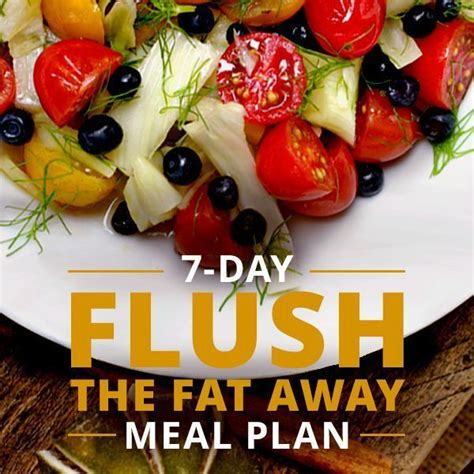 Flush Away Detox by 7 Day Flush The Away Meal Plan Drinks Clean