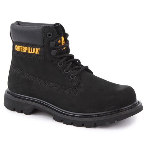 Caterpillar Leather Black List Caterpillar Colorado Mens Laced Leather Boots Black