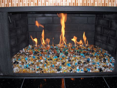 Glass Fireplace Rocks by Outdoor Glass Pits For Pools And Patio Custom High