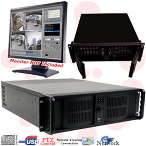 16 channel rack mount pc based security dvr system with