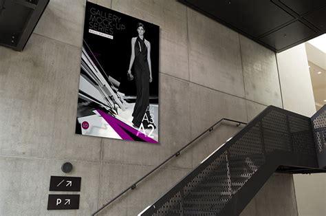 mockup design banner indoor advertising hoarding banner mockup psd download
