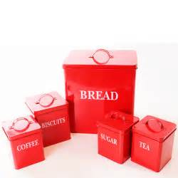 red kitchen canisters set vintage canister