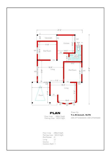 2 bedroom house plans indian style 932 sqft 2 bedroom house plan and elevation