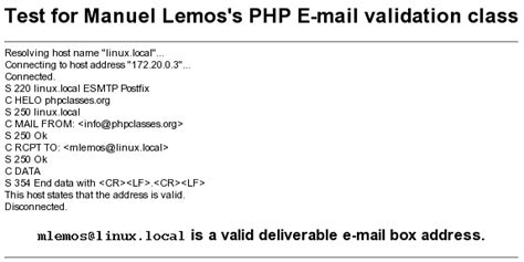 email format validation in php bulk email verifier php script with class php email