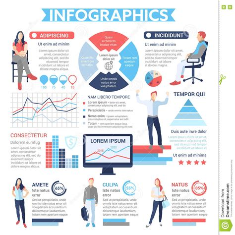 layout text poster people infographics poster brochure cover template