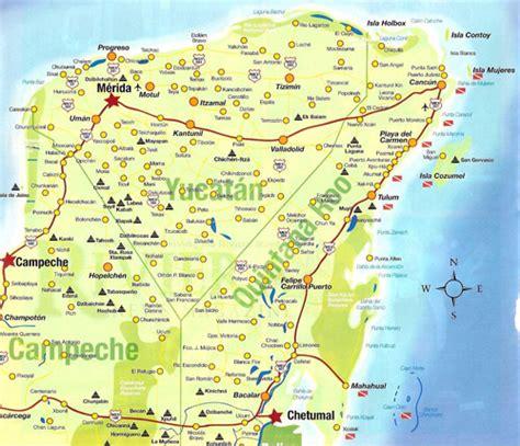 yucatan peninsula map pin mapa de yucatan on