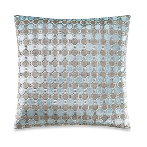blue throw pillows for bed octavia square throw pillow in blue bed bath beyond