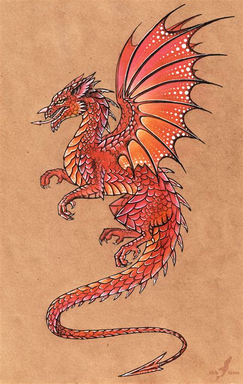 welsh dragon by alviaalcedo on deviantart