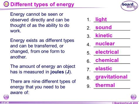 what type of energy is light ks4 physics types of energy ppt download