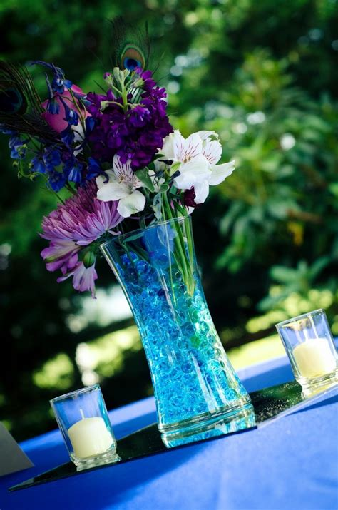 Blue And Purple Centerpieces Would Look Super Cute With Blue And Purple Centerpieces For Weddings
