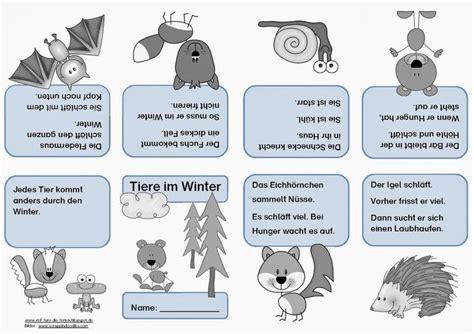 schlafen auf englisch tiere im winter faltheft sachunterricht