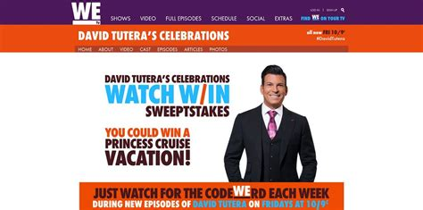 We Tv Sweepstakes - wetv david tutera celebrations watch and win sweepstakes