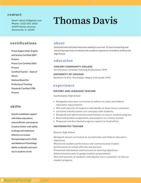 Best Resume Template 2017   Resume Builder