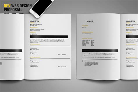 design proposal abstract dev web design proposal by bizzcreatives thehungryjpeg com