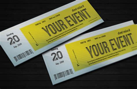 ticket invitation template 55 free psd vector eps ai