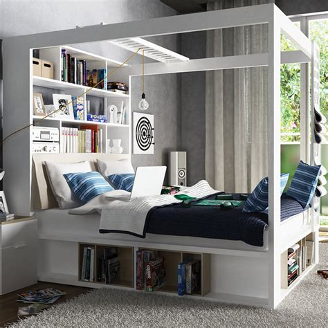 Vox 4 Poster Storage Bed   Absolute Home