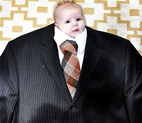 Suit Baby Meme - cute tiny babies dressed up like businessmen spark new