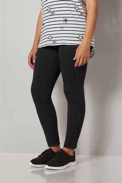 Jegging Stretch By Conba Id black ultimate comfort best friend jeggings plus size 16