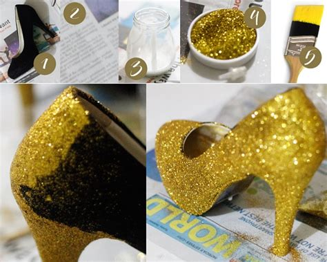 diy glitter shoes glitter glamorous shoes diy alldaychic