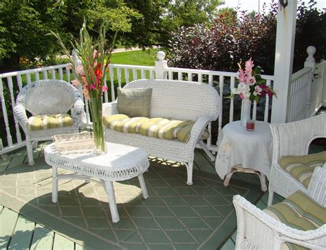Perfect white wicker outdoor furniture all home decorations relax with white wicker outdoor