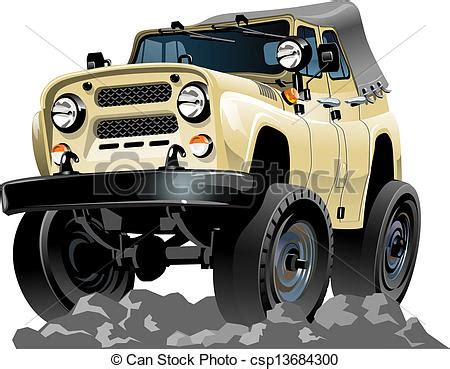 cartoon jeep front vector clipart of cartoon jeep isolated on white