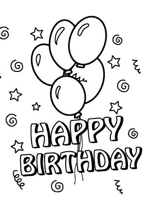 happy birthday sofia coloring pages happy birthday coloring pages with balloons for kids