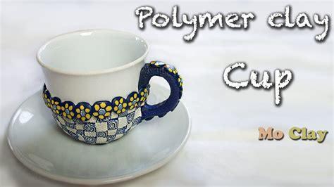 DIY Polymer clay decoration cup tutorial   YouTube