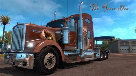 custom kenworth the bears den khross custom skin kenworth w900 modhub us