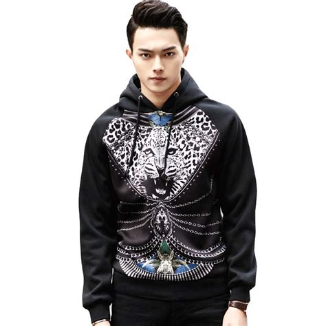 2015 new s leopard pattern printed hooded